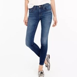 J. Crew Blue Toothpick Skinny Ankle Jeans 28